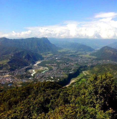 Topografia Pokhary i dzielnica buddyjska