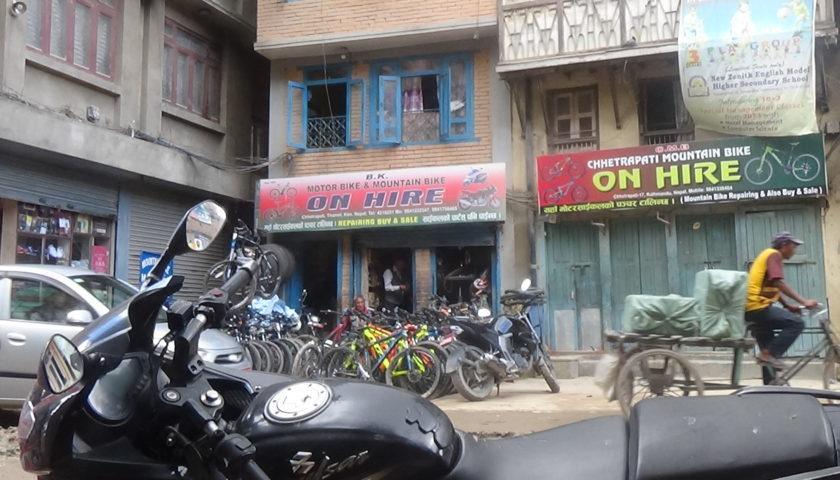 Kathmandu: jednoślady do wynajęcia