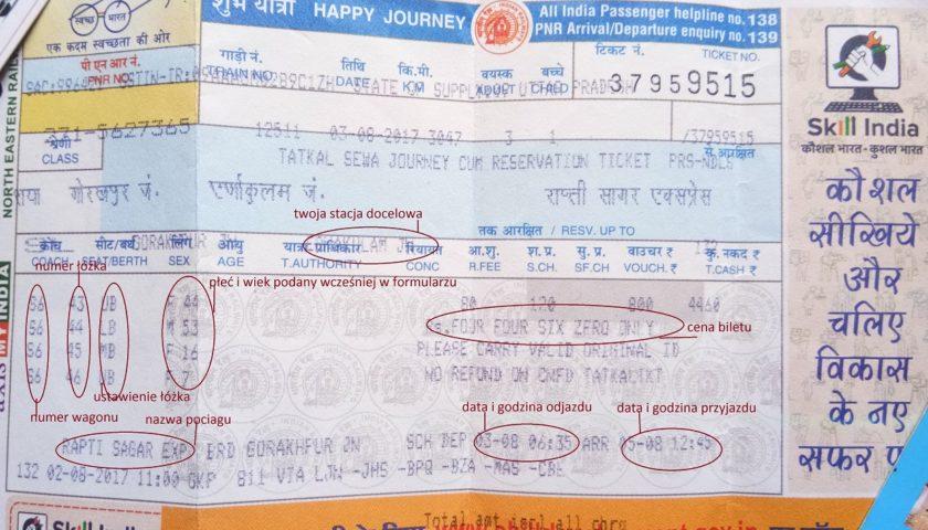Rapti Sagar Express: kupowanie tatkal na duże odległości