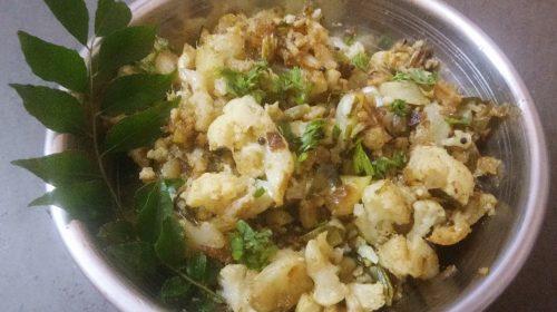 Navratri na południu Indii: Cauliflower Poriyal