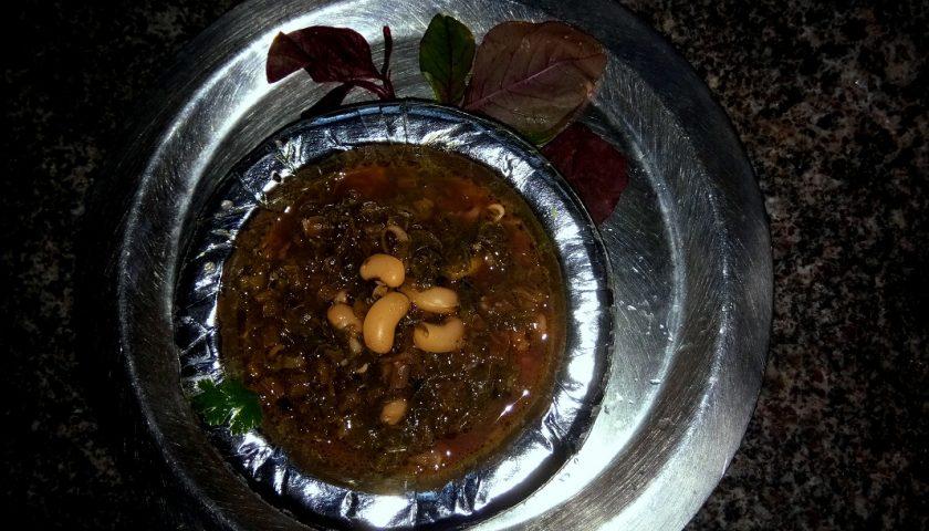 Tamdi bhajji: amarantusowe curry