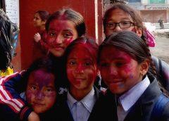 FESTIWAL HOLI w Katmandu