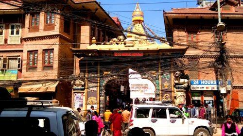 Z wizytą na Boudanath, Kathmandu