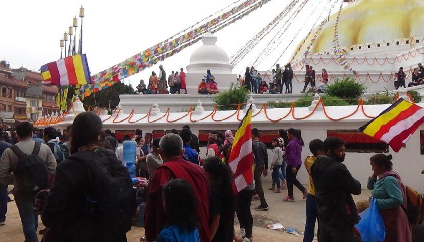 Budda Jayanti w Kathmandu, Baudha