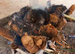 Tamang cremation
