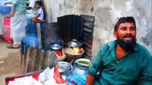 Dhaka: menu na ulicy