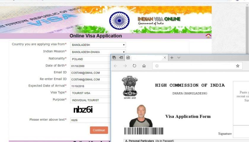 Bangladesz: wnioskowanie o wizę indyjską