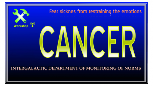 Cancer, fear sicknes from keeping the emotions inside