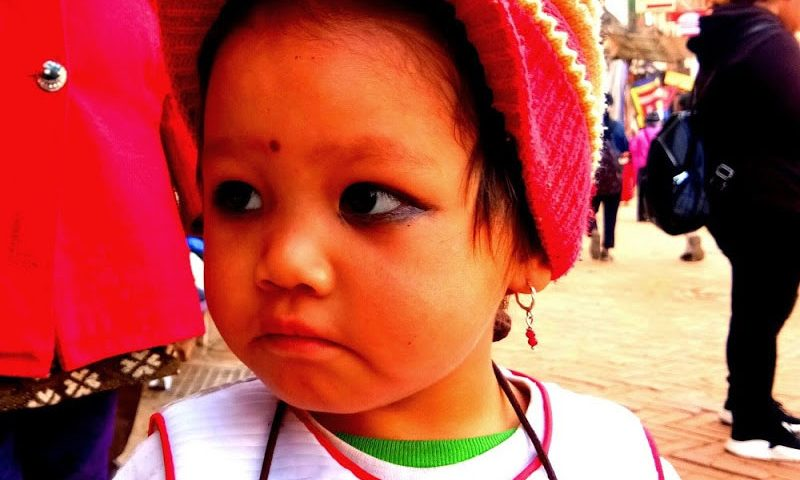 Why Indian people paint eyes of their children