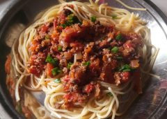 A recipe for bolognese in Nepal