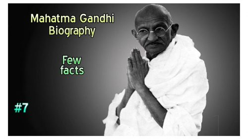 Few facts about Mahatma Gandhi
