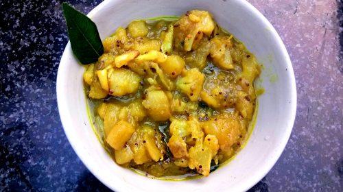 Chakkarai valli curry: bataty po tamilsku