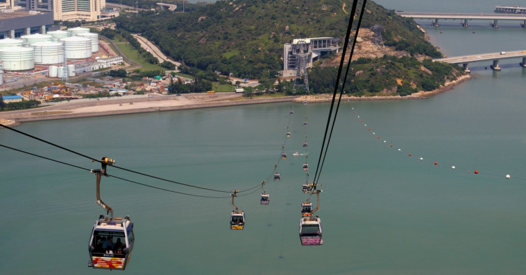 Soon, will be finished the longest ropeway, over the sea, from Mumbai to Elephanta