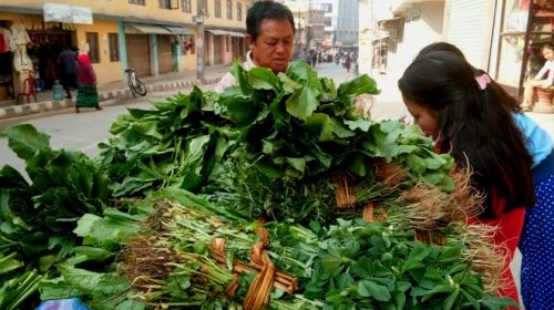 Hariyo Saag: green leafy vegetables in Nepal