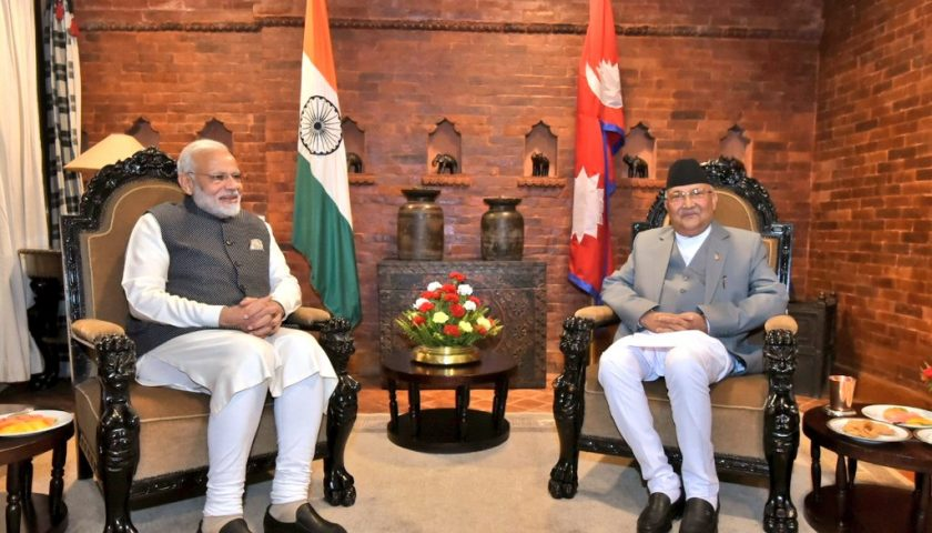 Oli receives Modi at Dwarika's for a one-on-one meeting