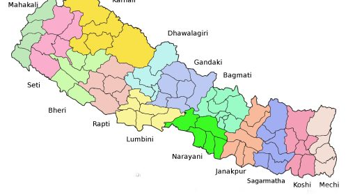 The division of Nepal