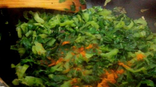 Saag curry – cooked leafs