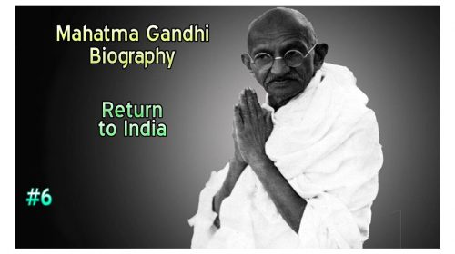 Mahatma Gandhi: Return to India